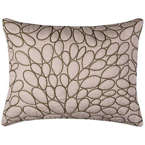 Petal Blush Natural Cotton Quilted King Pillow Sham