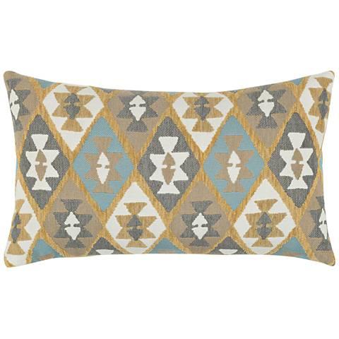 """Canyon Diamond Sky 20""""x12"""" Lumbar Indoor-Outdoor Pillow"""