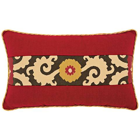 """Elaine Smith Suzani Sun 20""""x12"""" Lumbar Indoor-Outdoor Pillow"""