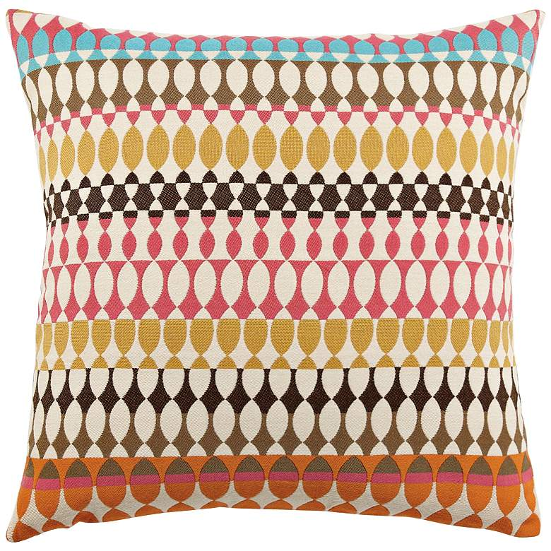 """Modern Oval Candy 20"""" Square Indoor-Outdoor Pillow"""