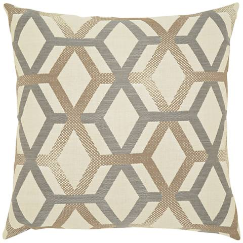 "Elaine Smith Lustrous Lines 20"" Square Indoor-Outdoor Pillow"