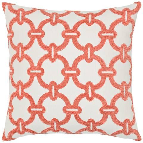 """Elaine Smith Hibiscus Hoop 20"""" Square Indoor-Outdoor Pillow"""