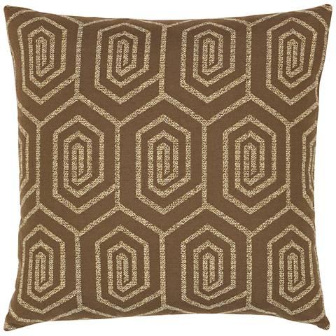 "Elaine Smith Function Geo 20"" Square Indoor-Outdoor Pillow"