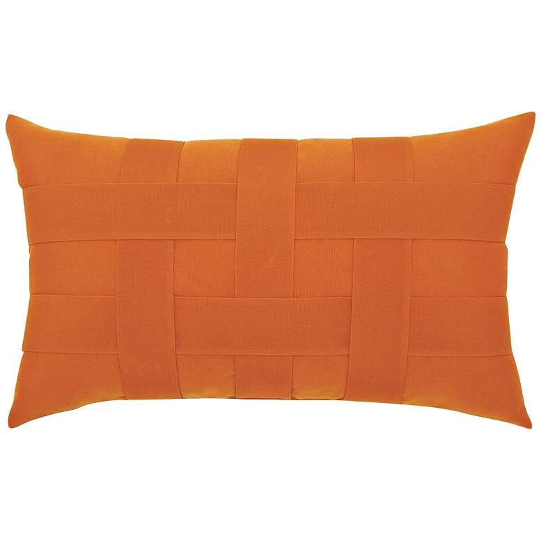 "Basketweave Tuscan 20""x12"" Lumbar Indoor-Outdoor Pillow"