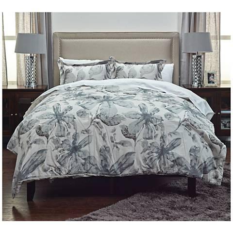 Lark Gray 3-Piece Comforter Set