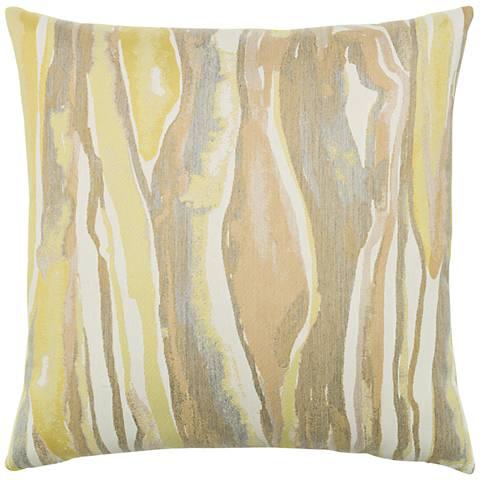 "Elaine Smith Bark Citrine 20"" Square Indoor-Outdoor Pillow"