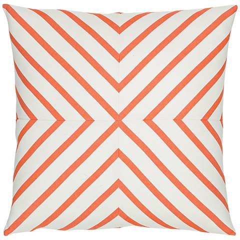 """Provence Stripe 20"""" Square Indoor-Outdoor Pillow"""