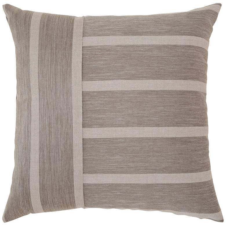 "Elaine Smith Sparkle Stripe 20"" Square Indoor-Outdoor Pillow"