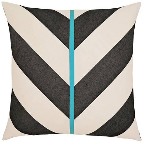 """Harmony Chevron 20"""" Square Indoor-Outdoor Pillow"""