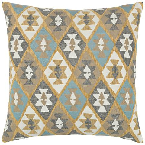 """Canyon Diamond Sky 20"""" Square Indoor-Outdoor Pillow"""