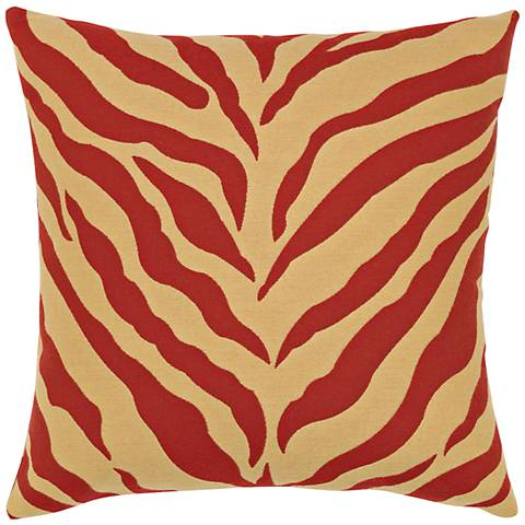 "Elaine Smith Zebra Royale 20"" Square Indoor-Outdoor Pillow"