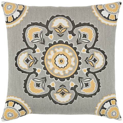 "Bukhara Eclipse 22"" Square Indoor-Outdoor Pillow"