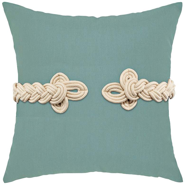 """Spa Frog's Clasp 19"""" Square Indoor-Outdoor Pillow"""