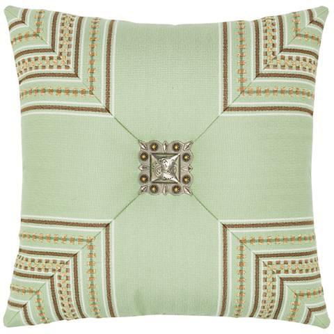 "Function Stripe 19"" Square Indoor-Outdoor Pillow"