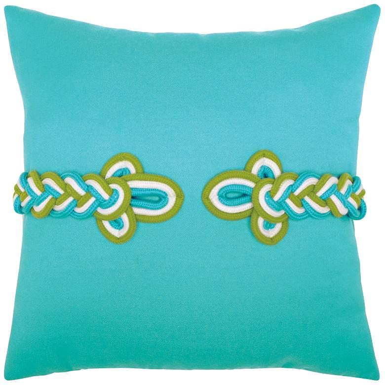 "Aruba Frog's Clasp 19"" Square Indoor-Outdoor Pillow"