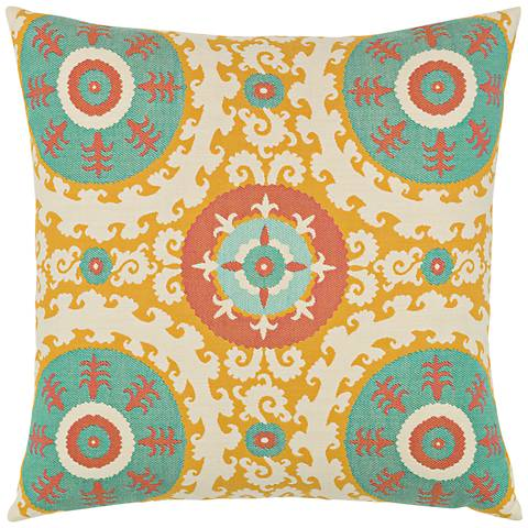 """Elaine Smith Suzani Candy 22"""" Square Indoor-Outdoor Pillow"""