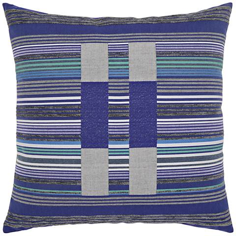 "Elaine Smith Gradient Block 22"" Square Indoor-Outdoor Pillow"