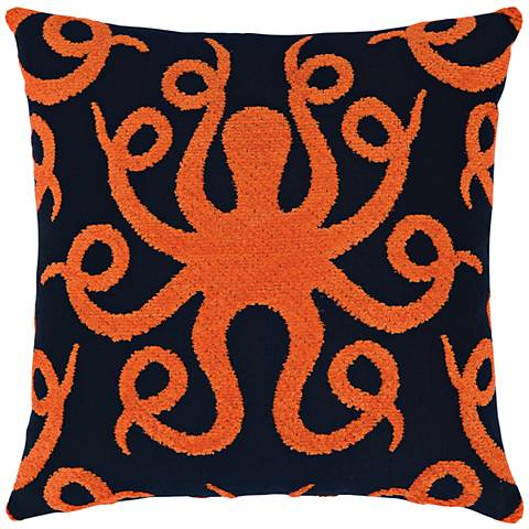 "Octoplush Coral 20"" Square Indoor-Outdoor Pillow"