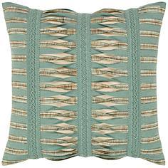 "Elaine Smith Gladiator Spa 20"" Square Indoor-Outdoor Pillow"