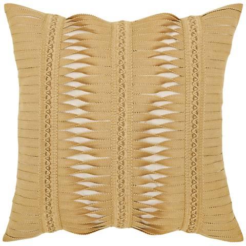 "Gladiator Wheat 20"" Square Indoor-Outdoor Pillow"