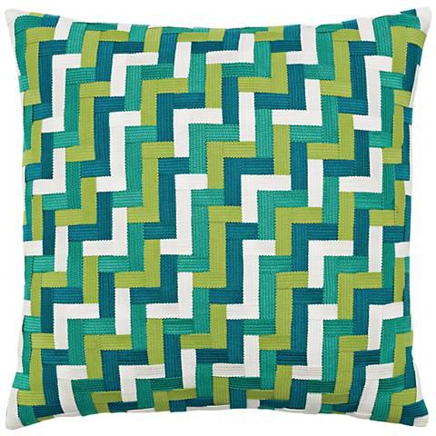 """Eden Basketweave 20"""" Square Indoor-Outdoor Pillow"""
