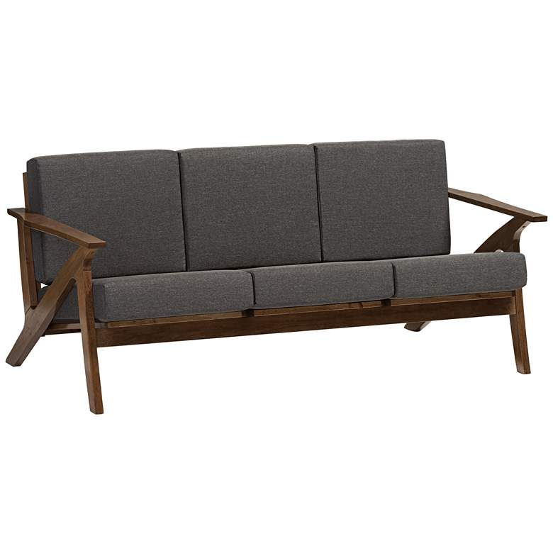 "Baxton Studio 70"" Wide Cayla Gray 3-Seater Modern Sofa"