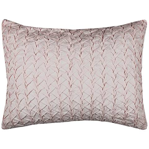 Carly Pink Cotton Voile Quilted Standard Pillow Sham