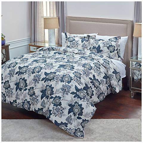 The Morrison Blue 3-Piece Comforter Set
