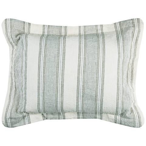 Charlton Multi-Color Blue Linen Standard Pillow Sham