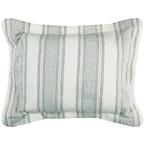 Charlton Multi-Color Blue Linen King Pillow Sham