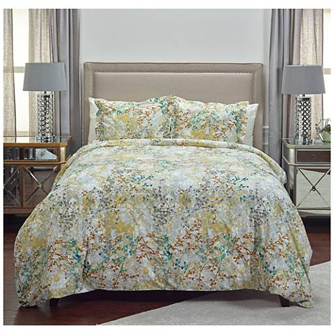 Gypsy Jane Multi-Color Yellow 3-Piece Cotton Duvet Set