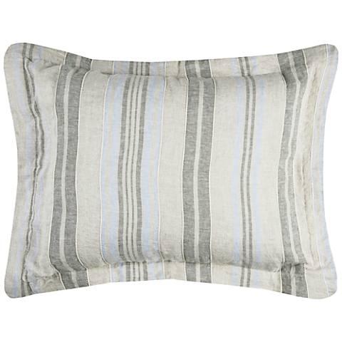 Terrance Multi-Color Gray Stripe Linen Duvets and Shams