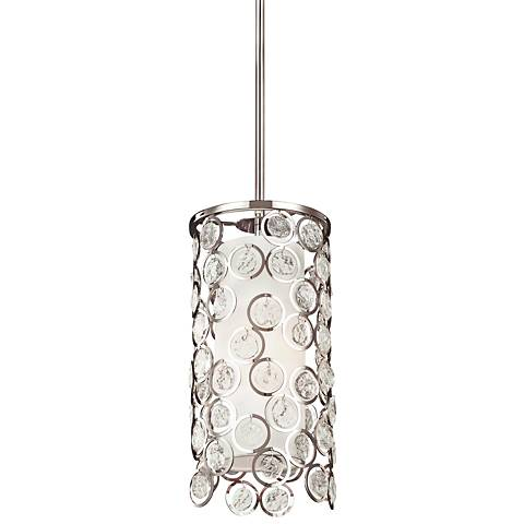"Feiss Lexi 7"" Wide Polished Nickel Mini Pendant"