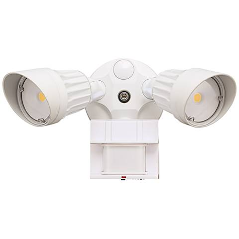 "Eco-Star 13""W 3000K LED Motion Security Flood Light in White"