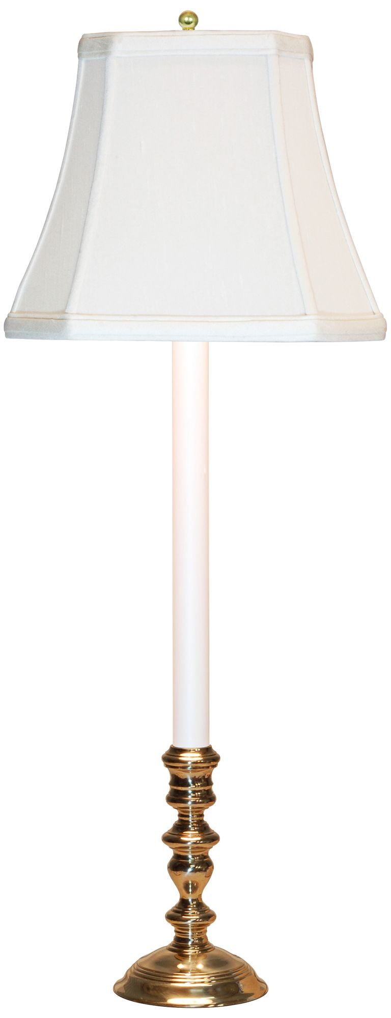 Brookwood Candlestick Buffet Table Lamp With Off White Shade