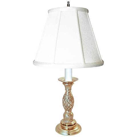Providence Pewter Candlestick Pineapple Table Lamp
