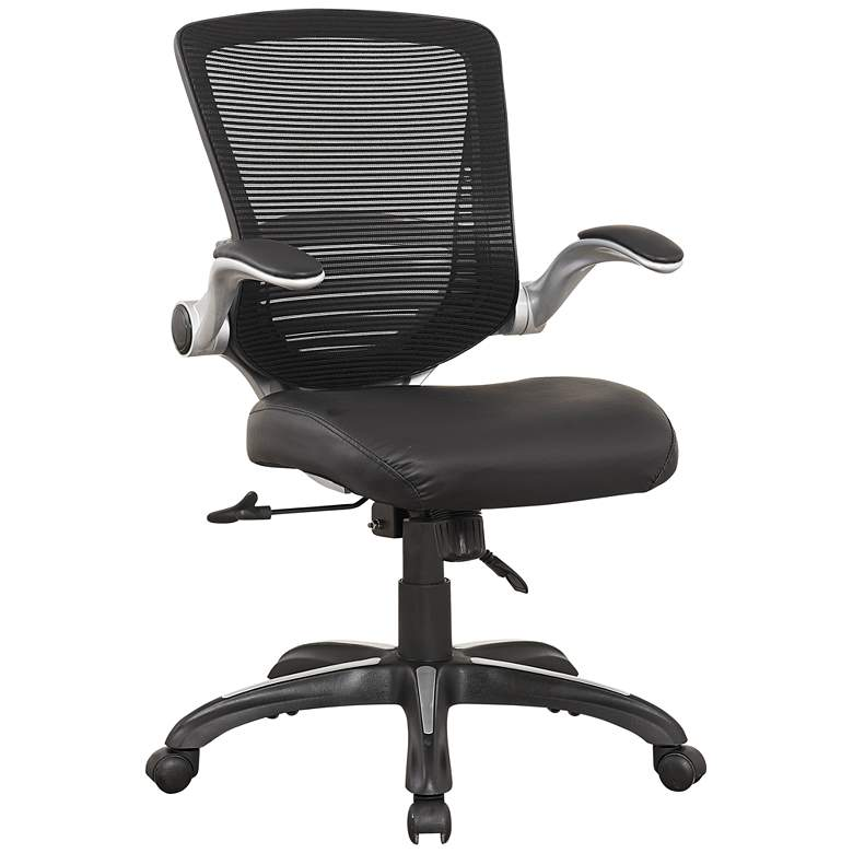 Ergonomic Walden Black Faux Leather Adjustable Office Chair