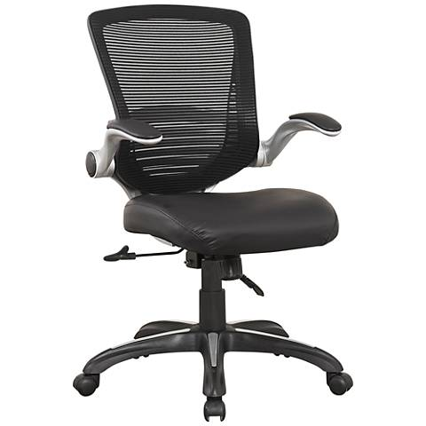 Ergonomic Walden Black Faux Leather Adjustable Office Chair