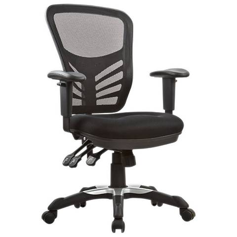 Governor Executive Black Mesh Adjustable Office Chair