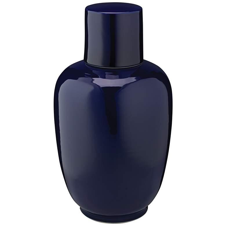 "Jamie Young 15"" High Dynasty Navy Blue Ceramic"