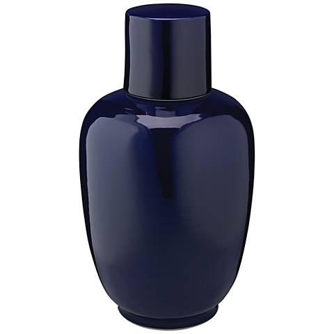 """Jamie Young Dynasty Navy 15"""" High Ceramic Vase"""