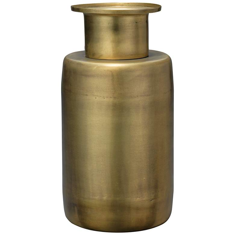 "Jamie Young Hera Antique Brass 12"" High Metal Vase"