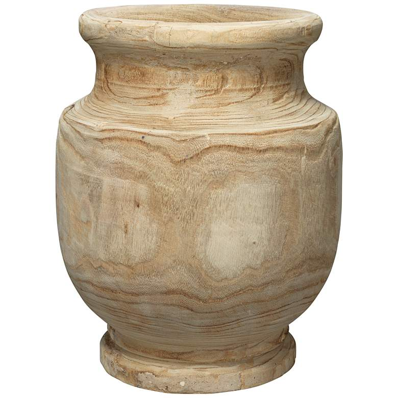 "Jamie Young Laguna 17 3/4"" High Natural Wood Vase"