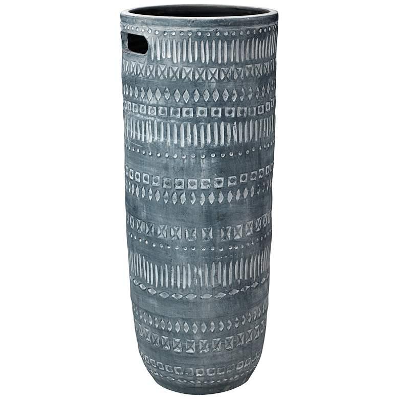 "Zion Gray 28 1/2"" High Southwest Rustic Ceramic Vase"