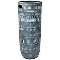 """Jamie Young Zion Gray and White 28 1/2"""" High Ceramic Vase"""