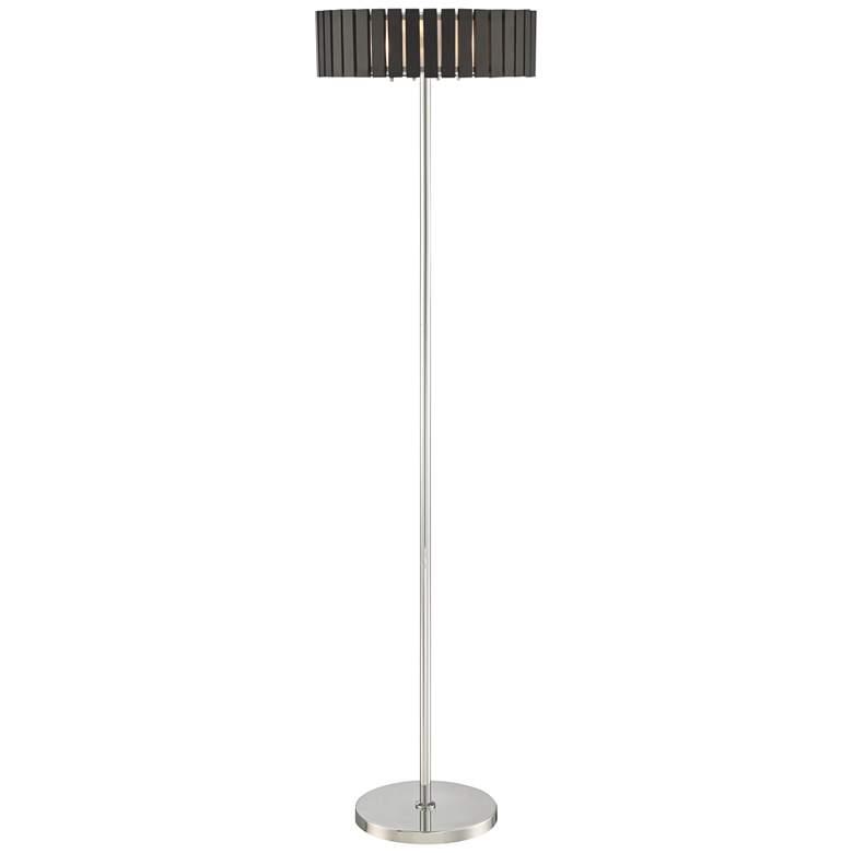 Lite Source Maxwell Chrome Metal Floor Lamp
