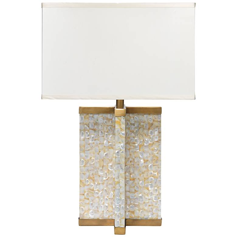 Jamie Young Axis Mother of Pearl Veneer Brass Table Lamp