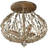 "Varaluz Bask 18"" Wide 3Light Gold Dust Ceiling Light"