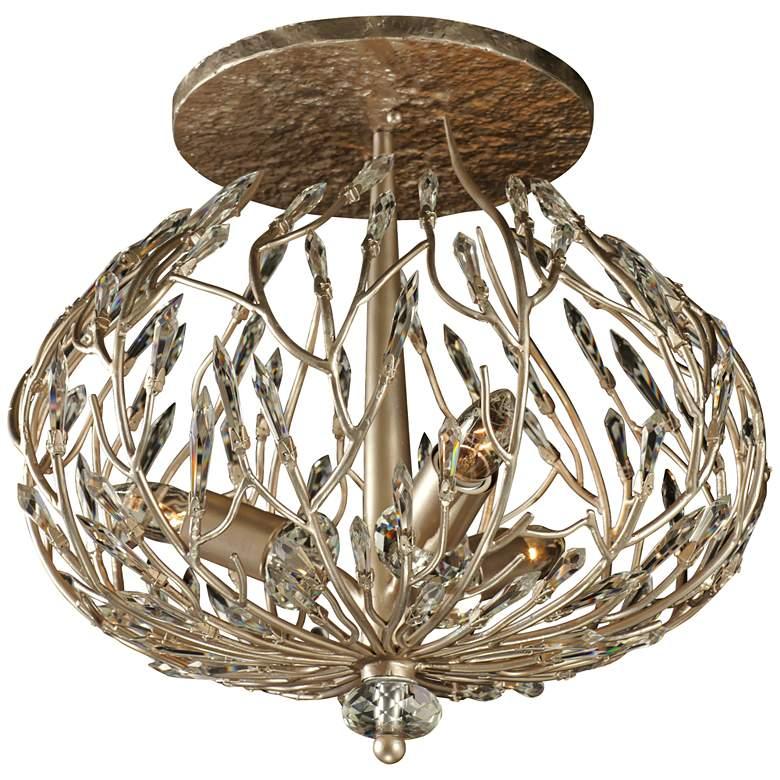 """Varaluz Bask 18"""" Wide 3Light Gold Dust Ceiling Light"""