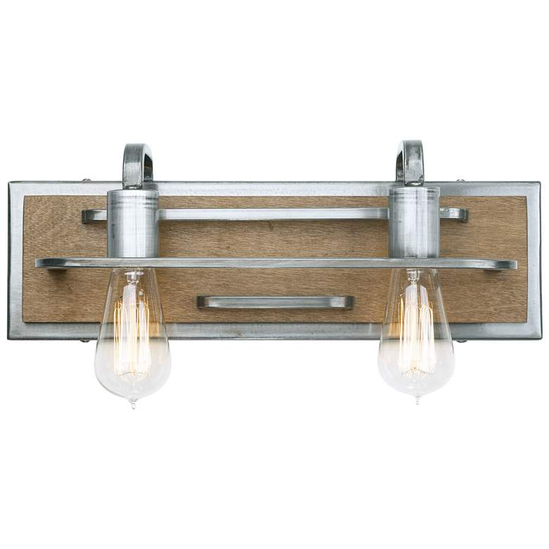 "Varaluz Lofty 6""H 2-Light Wheat and Steel Wall"